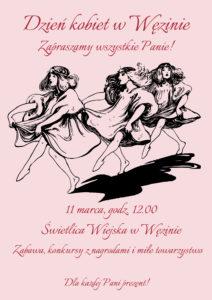 Projekty graficzne, Plakat - zaproszenie nadzień kobiet
