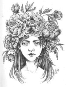 """Ilustracja Magdaleny Otyś """"Peony"""""""